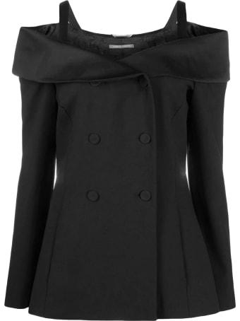 Alberta Ferretti Black Fitted Jacket