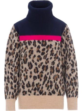 Sacai Leopard Print Jumper