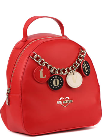 Love Moschino Red Faux Leather Mini Backpack