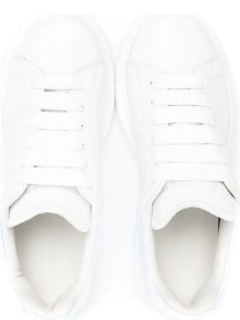 Alexander McQueen Unisex Kid White Oversize Sneakers With Iridescent Spoiler