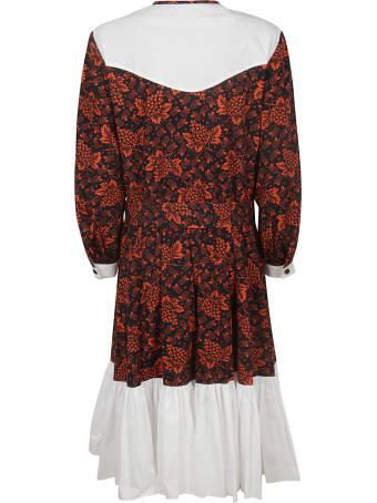 Batsheva Floral Ruffled Dress