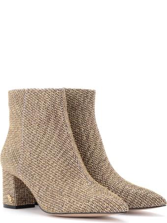 Kurt Geiger Burlington Ankle Boot In Brown Tweed With Micro-studs