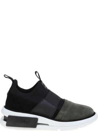 Panchic Slip-on In Nylon And Suede Black / Military