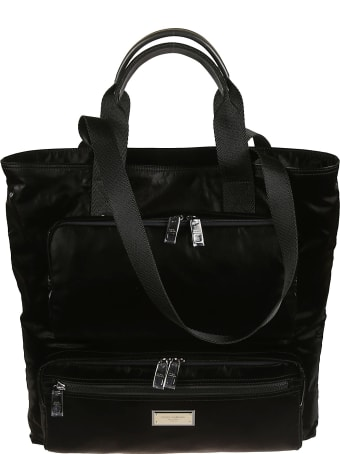 Dolce & Gabbana Logo Plaque Top Handle Tote