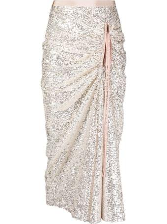 N.21 Silver-tone Sequin-embellished Skirt