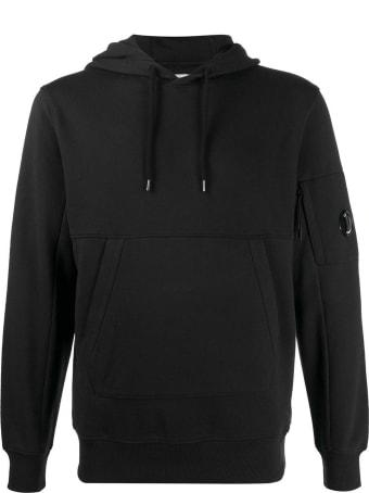 C.P. Company Black Cotton Hoodie