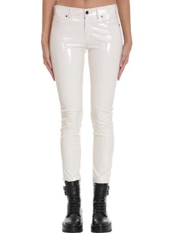Laneus Pants In White Polyester