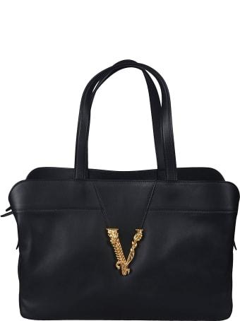 Versace Logo Plaque Tote