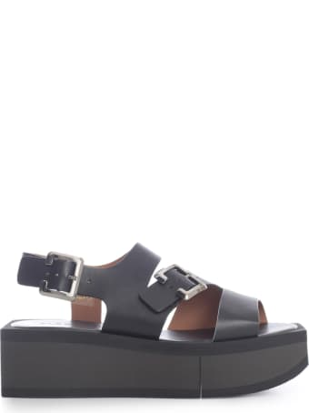 Clergerie High Platform Sandals W/belts On Ankle And Bands