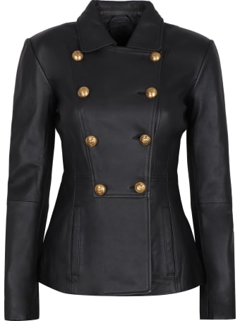 Pinko Ercole Leather Jacket