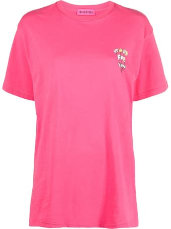 IRENEISGOOD Pink Jersey T-shirt With Print