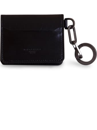 Dolce & Gabbana Horsehide Card Holder With Ring And Heat-stamped Logo