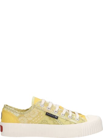 Superga Sneakers In Yellow Canvas