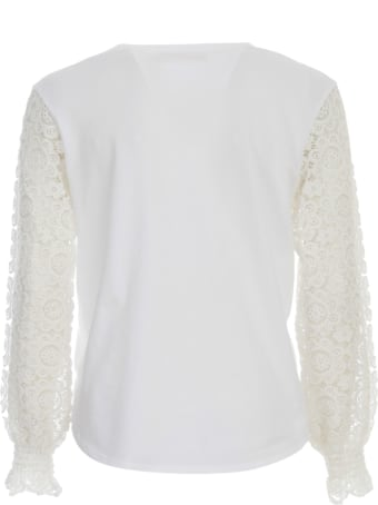 See by Chloé Top L/s W/lace On Sleeves