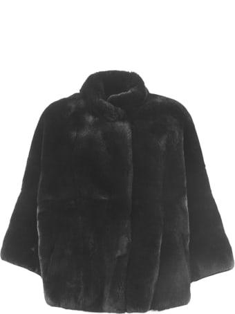S.W.O.R.D 6.6.44 Charcoal Rabbit Fur Shearling Button-up Coat