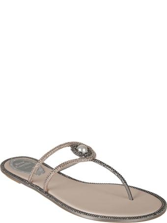René Caovilla Spilla Flat Sandals