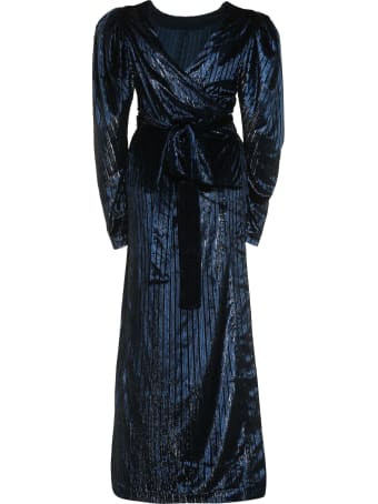 Rotate by Birger Christensen Barbara Velvet Wrap-dress