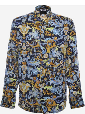 Versace Jeans Couture Shirt With All-over Versailles Print