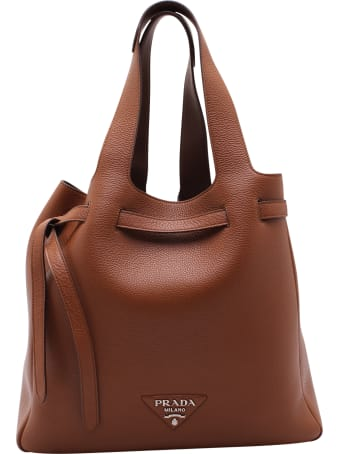 Prada Leather Shopping Bag