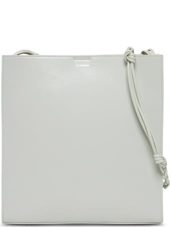 Jil Sander Tangle Crossbody Bag In Sage Colored Leather