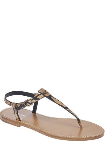 Celine Animal Strap Print Sandals