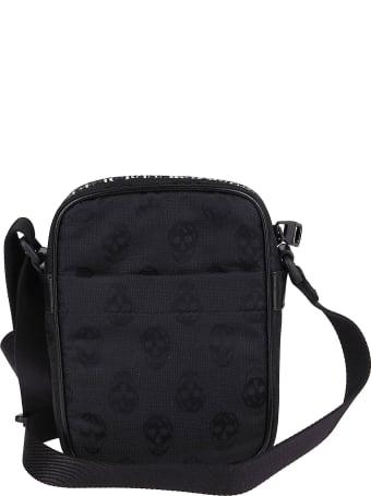 Alexander McQueen Black Canvas Messenger Bag