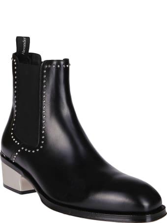 Alexander McQueen Black Leather Boots
