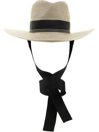 Brunello Cucinelli Straw Hat With Precious Grosgrain Band
