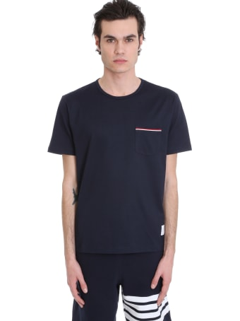 Thom Browne T-shirt In Blue Cotton