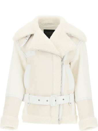 Mr & Mrs Italy Cotton Jacket With Nappa And Shearling Inserts