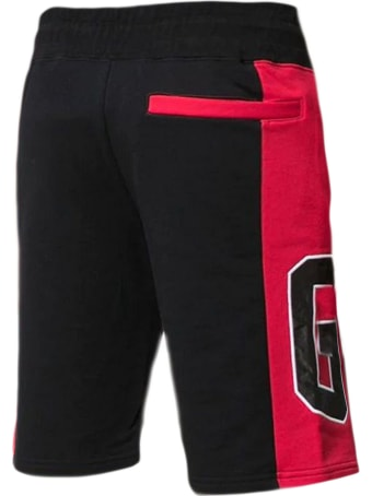 GCDS Black And Red Cotton Shorts