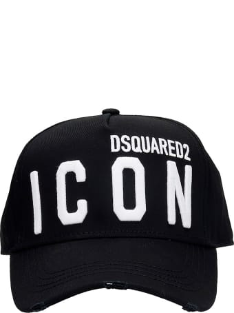 Dsquared2 Icon Hats In Black Cotton