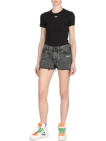 Off-White Dark Grey Shorts