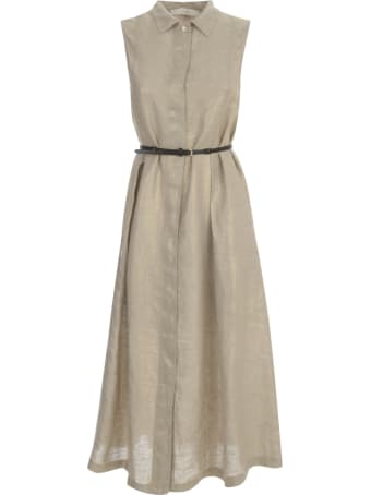 19.70 Nineteen Seventy Sleeveless Dress W/belt
