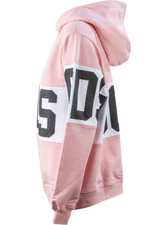 GCDS Pink Cotton Oversize Hoodie