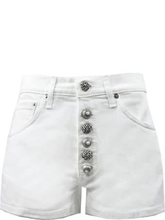 Dondup White Cotton Shorts