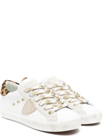 Philippe Model Paris Low Sneaker With Animalier Detail