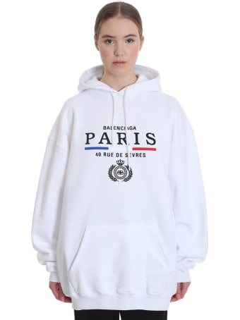 Balenciaga Sweatshirt In White Cotton