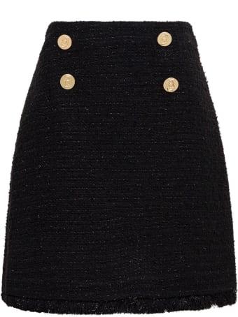 Liu-Jo Black Tweed Skirt