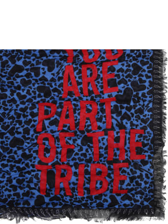 Zadig & Voltaire Blue Pashmina For Girl With Hearts