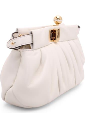 Fendi 'peekaboo Click' Leather Clutch Bag