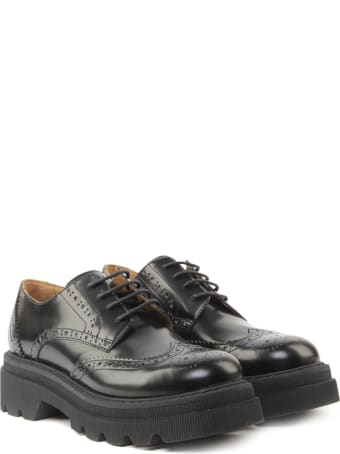 Voile Blanche Cley Lace-up Shoes In Leather With Brogue Embellishment