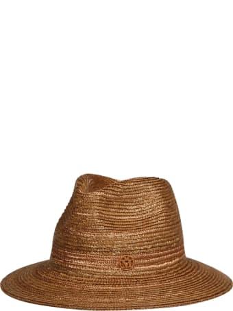 Maison Michel Rico Lame` Straw Hat