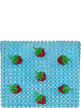 Susan Alexandra Strawberry Beaded Tote