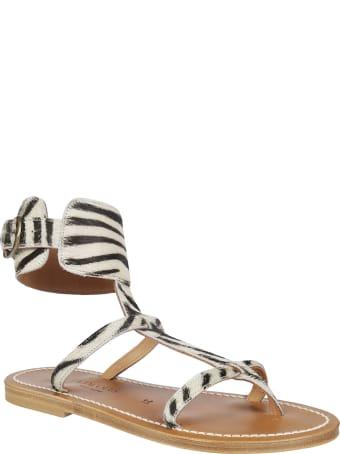K.Jacques Zebra Print Sandals