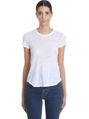 James Perse T-shirt In White Cotton