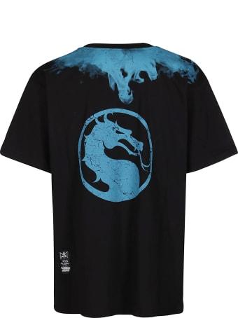 Marc Jacques Burton Black And Light Blue Cotton T-shirt