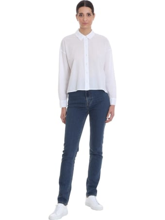 James Perse Shirt In White Cotton