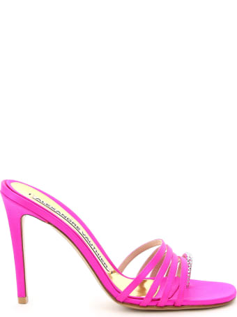 Alexandre Vauthier Salma Satin Mules With Crystals