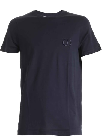 Dior Homme Dior Cd Embroidered Blue Navy T-shirt